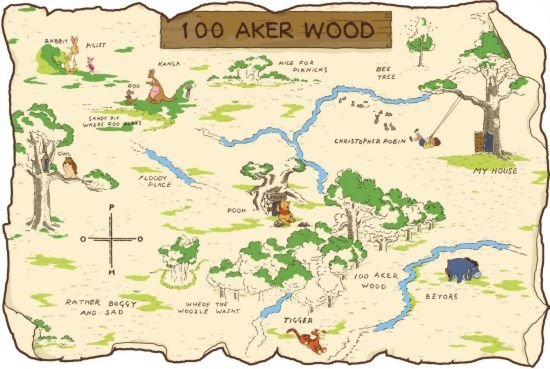 Hundred acre wood winnie the pooh