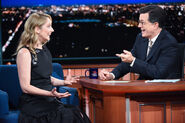 Judy Greer visits Stephen Colbert