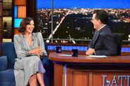 Maggie Gyllenhaal visits Stephen Colbert
