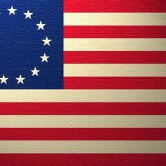 Oryginalna flaga USA z 13 gwiazdkami.