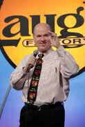 Larry Miller speaks at Laugh Factory