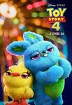 Toy Story 4 character poster - Ducky and Bunny