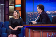 America Ferrera visits Stephen Colbert