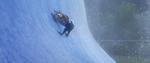 Judy memanjat tembok es