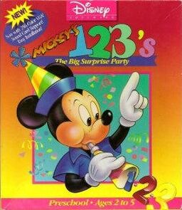 Mickey's 123 The Big Surprise Party Cover