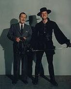 Zorro Guy Williams and Walt Disney