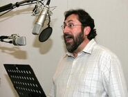 Bob Peterson recording booth