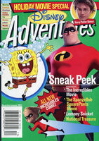 Disney Adventures Magazine cover Dec Jan 2005 Incredibles