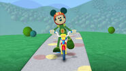 Martian mickey on bike