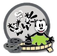 Oswald the Lucky Rabbit 90 Years Ortensia Lucky Number One Pin D23 Expo