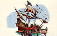 Chicken of the Sea Pirate Ship Concept Postcard