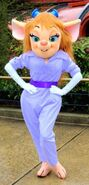 Gadget Hackwrench poses for a photo at Disneyland