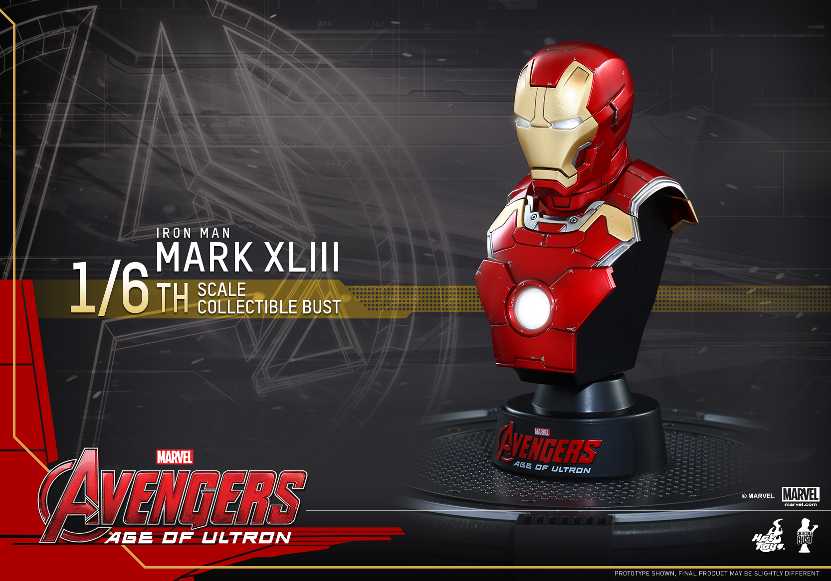 Image Hot Toys Avengers Age Of Ultron 1 6 Mark Xliii Collectible Bust Pr2