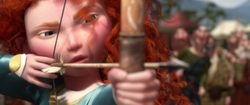 Merida poised to shoot an arrow