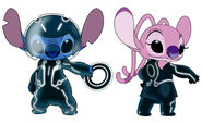 Stitch and Angel Tron