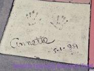 Annettes handprints 1989