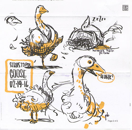 image gigantic goose jpg disney wiki fandom powered by wikia