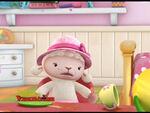 Lambie at tea party2