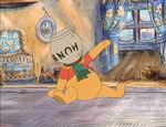 Winnie the Pooh Still has his head stuck in the honeypot