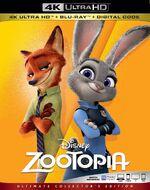 Zootopia 4KUHD Blu-ray