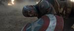 Captain America lies battered
