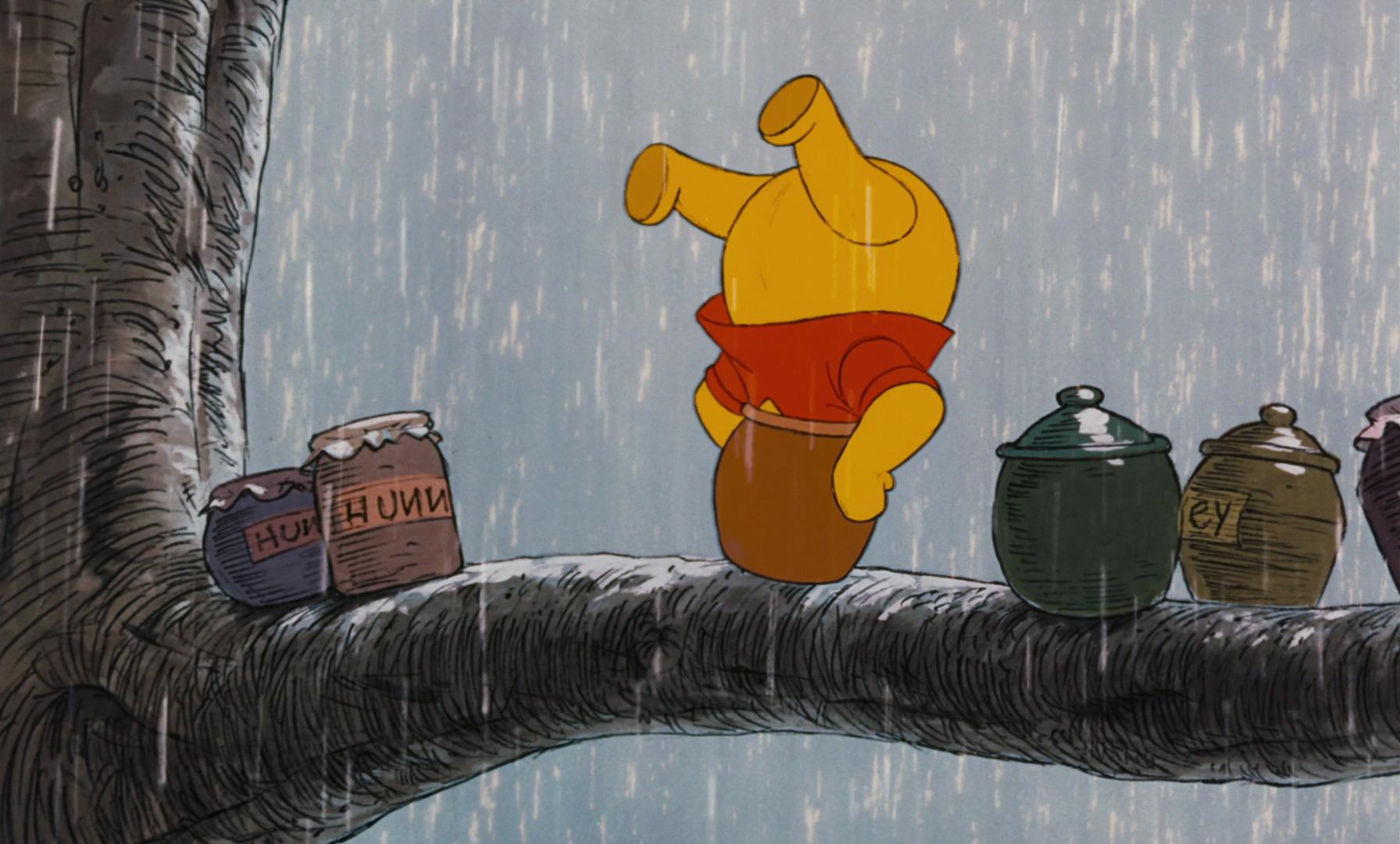 image winnie the pooh has his head stuck in his honey pot jpg