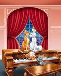 Aristocats and piano