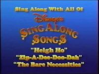 Sing-Along with All of Disney's Sing-Along Songs