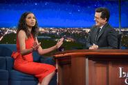 Jurnee Smolett-Bell visits Stephen Colbert