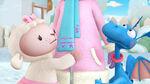 Lambie and stuffy hug doc