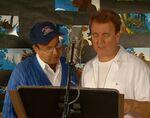 Rick Moranis & Dave Thomas behind the scenes of Bro Bear