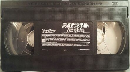 Wonderful World of Disney - Three on the Run-Race for Survival VHS - Tape