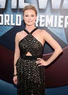 Emily VanCamp Captain America CW premiere