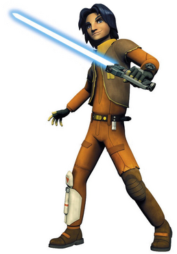 Ezra Bridger with Lightsaber promo