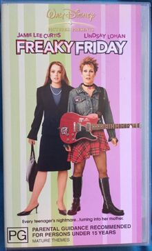 Freaky Friday Remake 2004 AUS Retail VHS