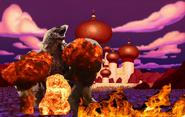 Godzilla attacks Agrabah