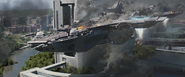 Helicarrier crashes into building TWS