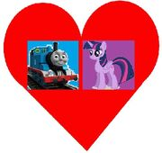 Thomas and Twilight Sparkle's heart picture