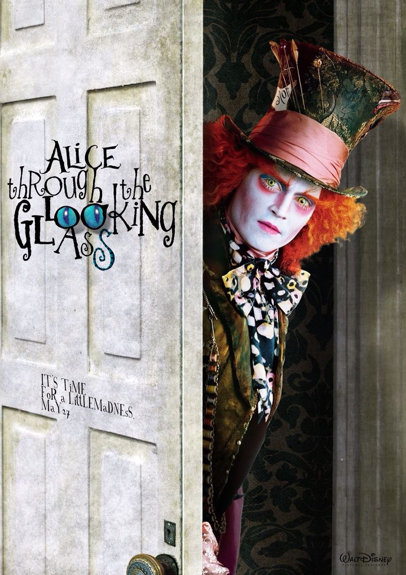 Image Alice Through The Looking Glass Hatter Behind Doorg