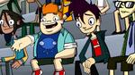 Howard and Randy in The Three Mascot-teers