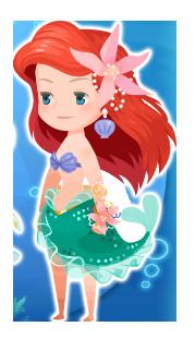 Ariel Costume Kingdom Hearts χ