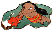 DCL - Pin Trading Under The Sea - Lilo with Pudge - Pursuit Pin
