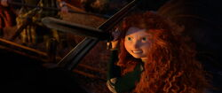 Merida protecting Elinor