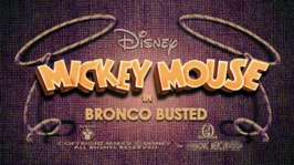 Mickey Mouse Bronco Busted Title card