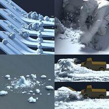 电脑模拟雪景的效果