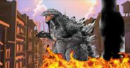 Godzilla invaders Monstropolis