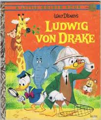 Ludwig Von Drake Little Golden Book cover