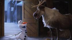 Olaf und Sven in der Scheune