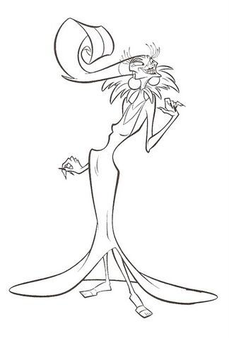 Image  Yzma Coloring Pagejpg  Disney Wiki  FANDOM powered by