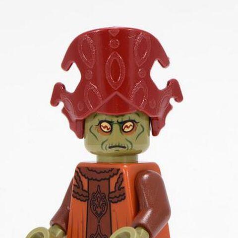 Figurka Nute Gunray'a w klockach Lego.